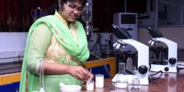 Student's innovative way to find out purity of food
