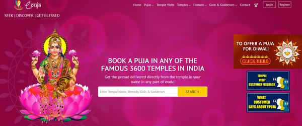 ePuja offers online puja booking services