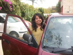 Differently-abled professor teaches driving
