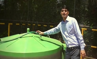 This man installs biogas plant in balcony