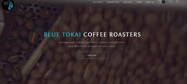 Blue Tokai offers freshly roasted coffee beans