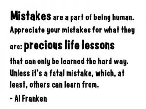 Mistakes to avoid in life