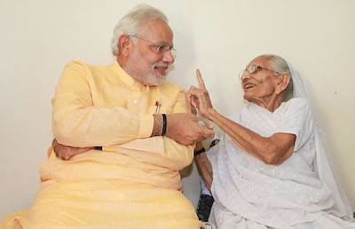 Modi's mother gifted him a shawl