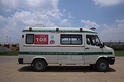 Devotees create human corridor for ambulance
