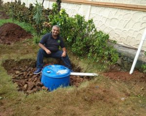 Low-cost rainwater harvesting system