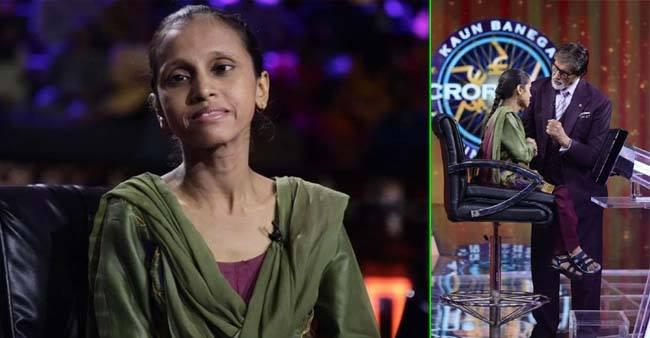 Crutches to a KBC Contestant
