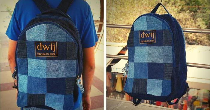 Dwij makes upcycled jeans bags