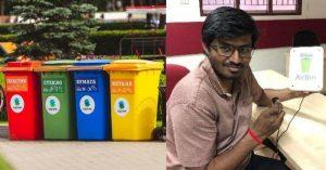 Smart garbage bins that send messages