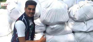 Chennai teens distribute cloth bags made with bedsheets