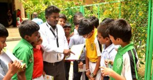 Andhra Man creates awareness on energy conservation in school children