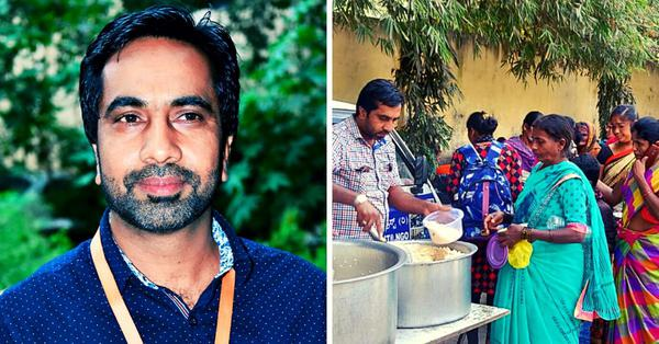 Bengaluru man provides free meal to patients' aides