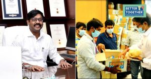 IAS officer provides Relief kits to migrant workers in Tiruppur