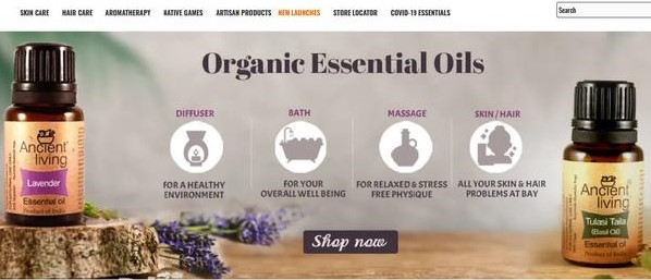 Ancient Living provides organic products