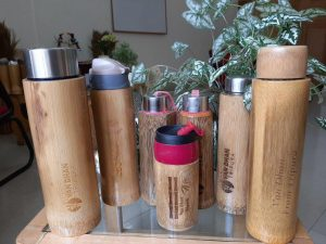 IFS Officer makes copper-lined bamboo bottles