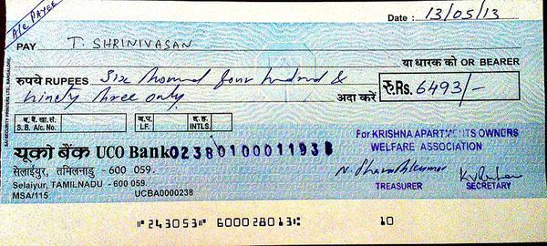 Different types of Cheques