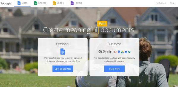 Interesting features of Google Docs