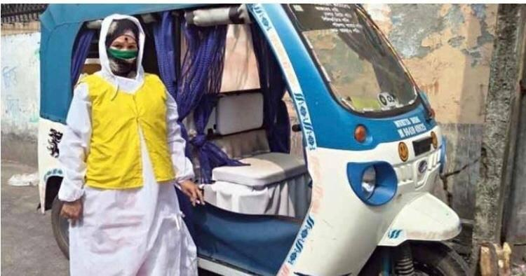 Siliguri's first woman toto driver helps COVID patients