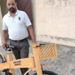 Punjab carpenter makes eco-friendly wooden bicycles