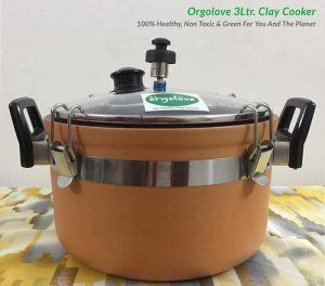 Orgolove's Clay pressure cooker improves food flavour
