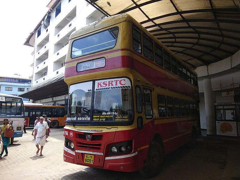 Rent KSRTC's double-decker buses for wedding photoshoot