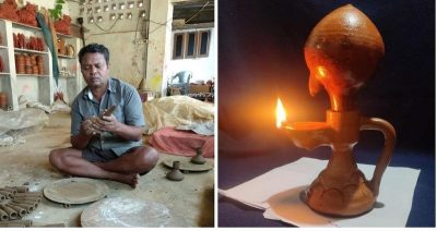 Earthen lamp that lights for 24-hours