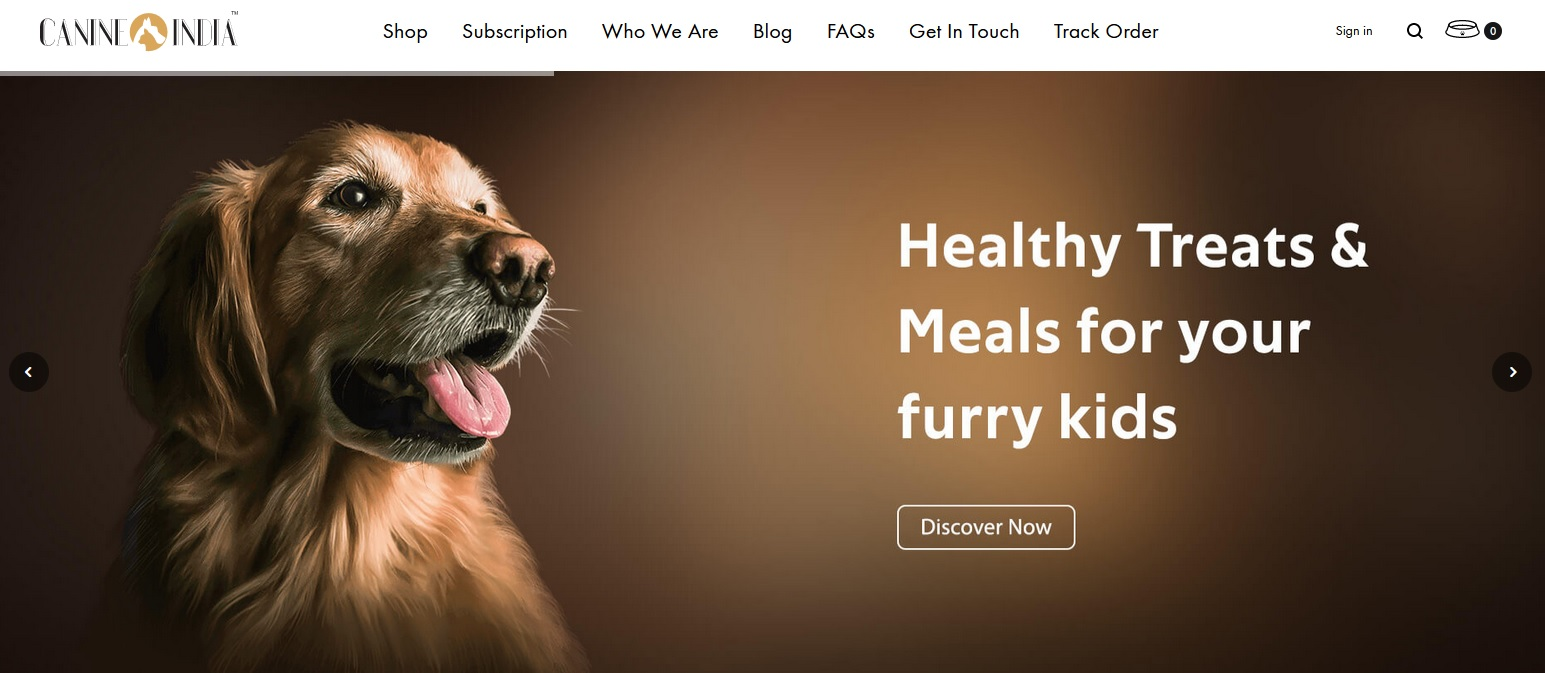 Canine India offers pet food