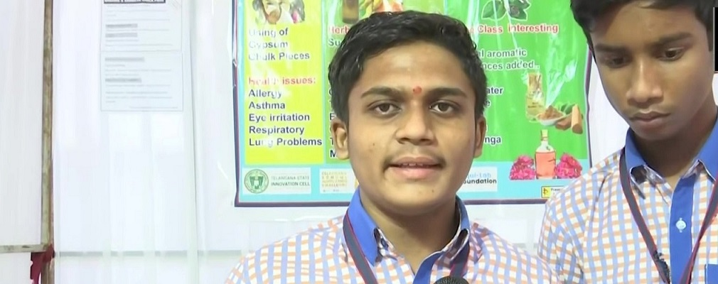 Telangana students make organic chalks