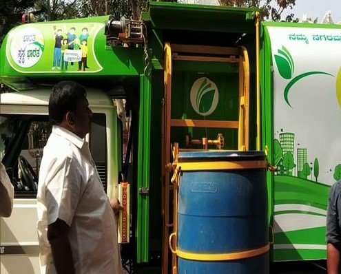 Underground garbage bin eliminates bad odour