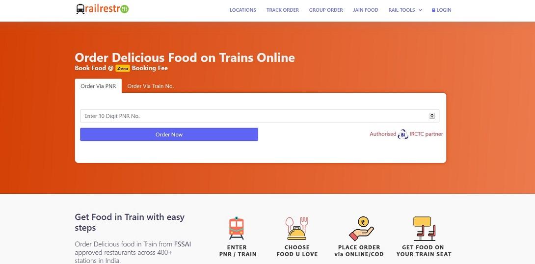RailRestro provides fresh and quality food to train passengers