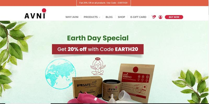 Avni offers eco-friendly menstrual products