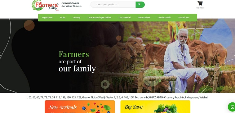 Farmers' Family delivers farm fresh products
