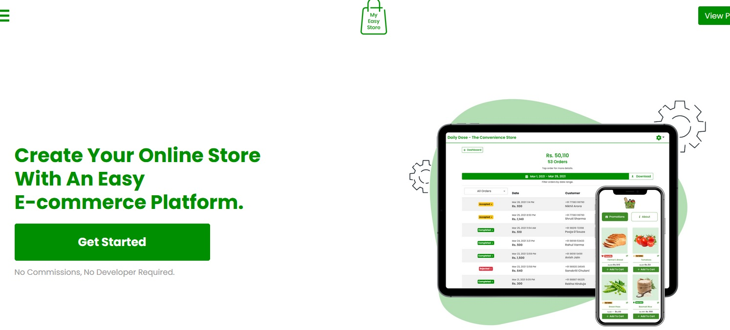 MyEasyStore helps small businesses to set up online store