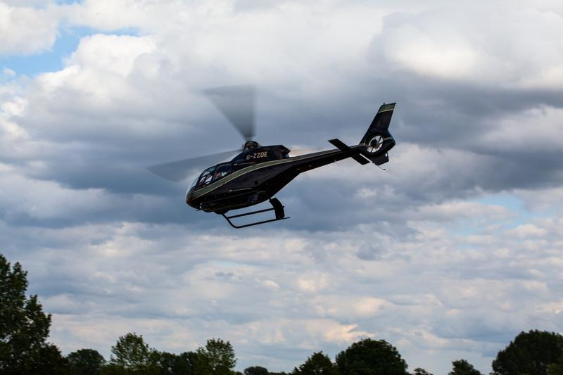Man hires helicopter for newborn girl child