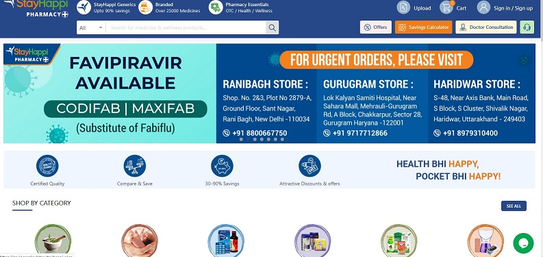 StayHappi Pharmacy provides affordable medicines