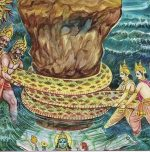 Churning of milk ocean and its symbolism