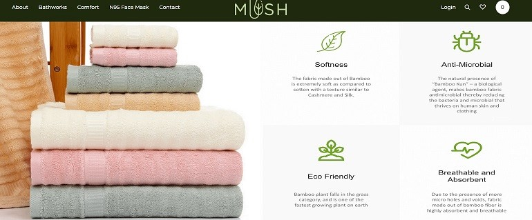 Mush Textile offers eco-friendly bamboo products