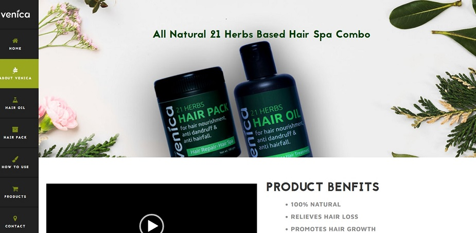 Venica Herbals offers organic skin and hair care products