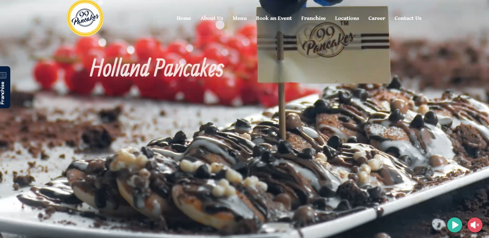 99pancakes offers different types of pancakes