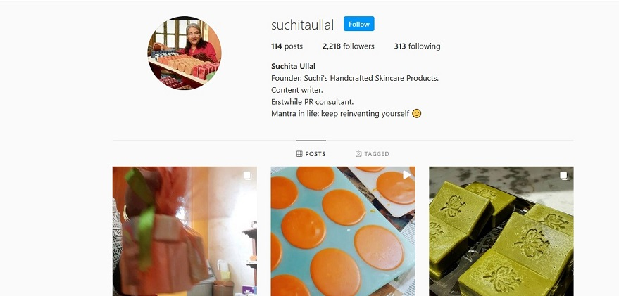 64-year-old woman sells handmade soaps
