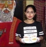 Odisha girl makes a portrait of PM Modi using food grains